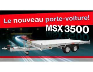 Anssems Plateau multi-usage MSX 405 x 200 plancher alu rampes et treuil 3500 kg