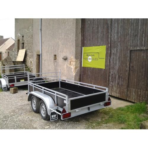 remorque double essieux bw trailers. Black Bedroom Furniture Sets. Home Design Ideas