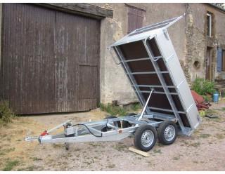 BW Benne 260 x 150 double essieux PTAC 750 kg