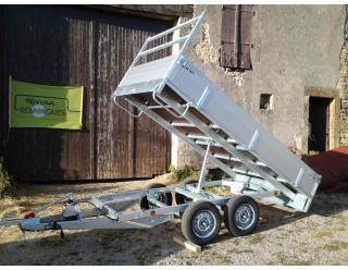 BW Benne 300 x 150 double essieux PTAC 750 kg