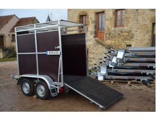 BW Bétaillère Pony 250 x 125 x 175 double essieux PTAC 750 kg