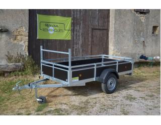 Kerenzo Bois 254 x 128 simple essieu PTAC 500 kg