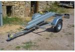 Sorel Porte-moto 220 x 130 1 rail PTAC 500 kg