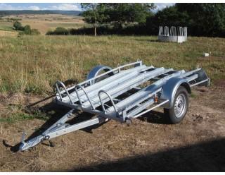 BW Porte-moto 220 x 128 3 rails PTAC 750 kg