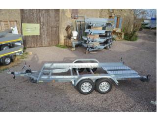 Franc Porte-voiture PV400F270 double essieux basculant PTAC 2700 kg