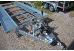 Location Porte-voiture 395 x 190 double essieux basculant PTAC 2500 kg Permis BE